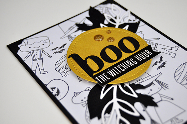 Boo stamped Halloween card by Jen Gallacher for www.jengallacher.com. #halloween #card #cardmaker #stamping #diecutting