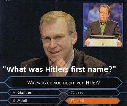 Funny Quiz Show Hitler First Name Caption Image