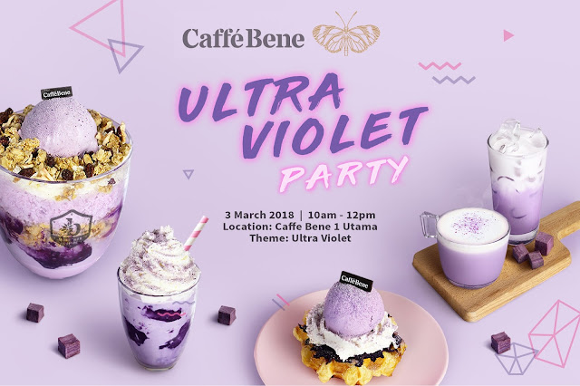 Caffe Bene X Butterfly Ultra Violet Party
