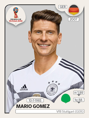 2d5be127a Panini - FIFA World Cup Russia 2018 Sticker Collection (56) - Updates (02)  - Germany