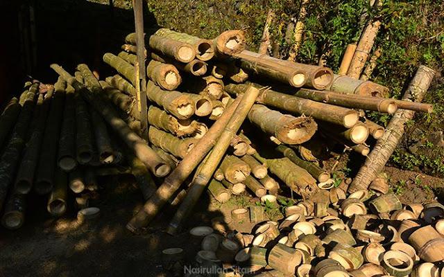 Bambu menjadi bahan baku untuk membuat Tusuk Sate