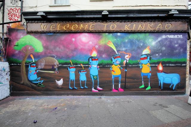 Street Art Mural By Brazilian Artist Cranio In East London, UK. 5