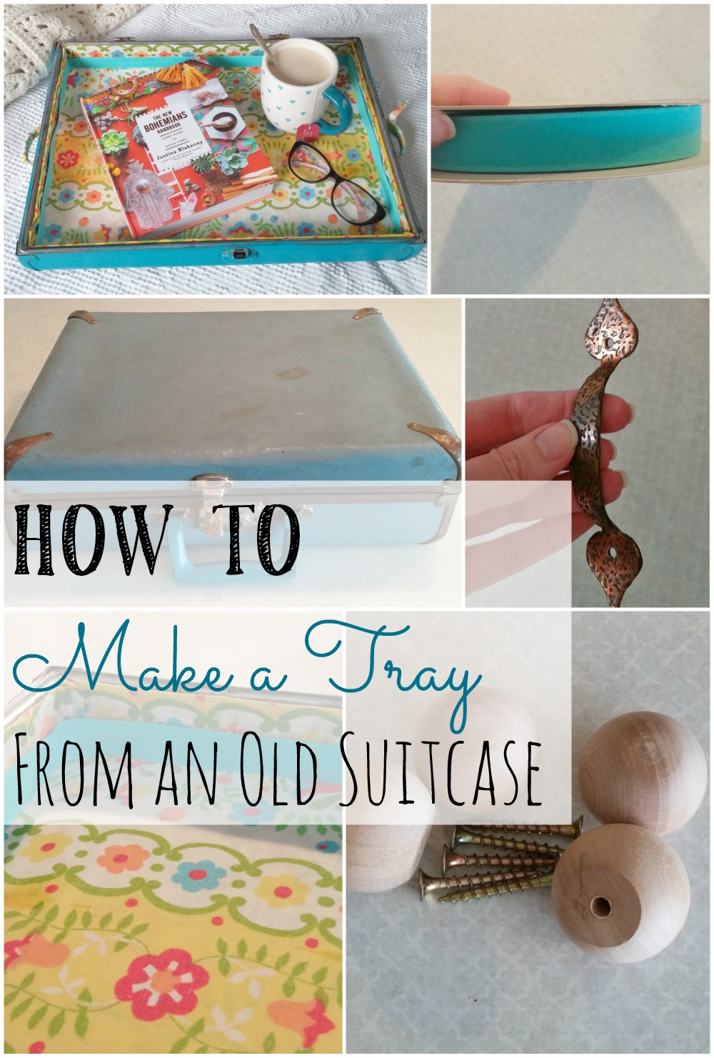 How to make a tray from an old suitcase!