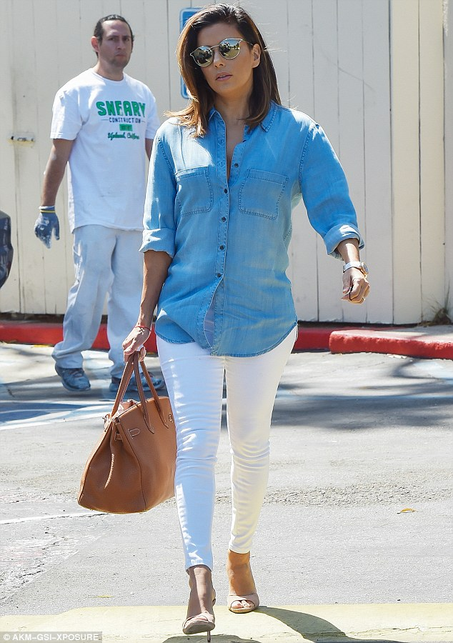 Best Dressed - Eva Longoria In Double Denim, indian fashion blogger, indian fashion blog