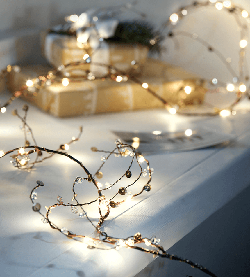 Jewelled Twig Light Up Garlands
