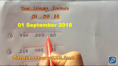 Thai lottery winning formula tips sure number 01 September 2018