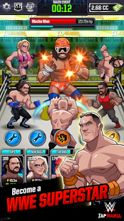 Download Game WWE Tap Mania Mod V1.3 Unlimited Money