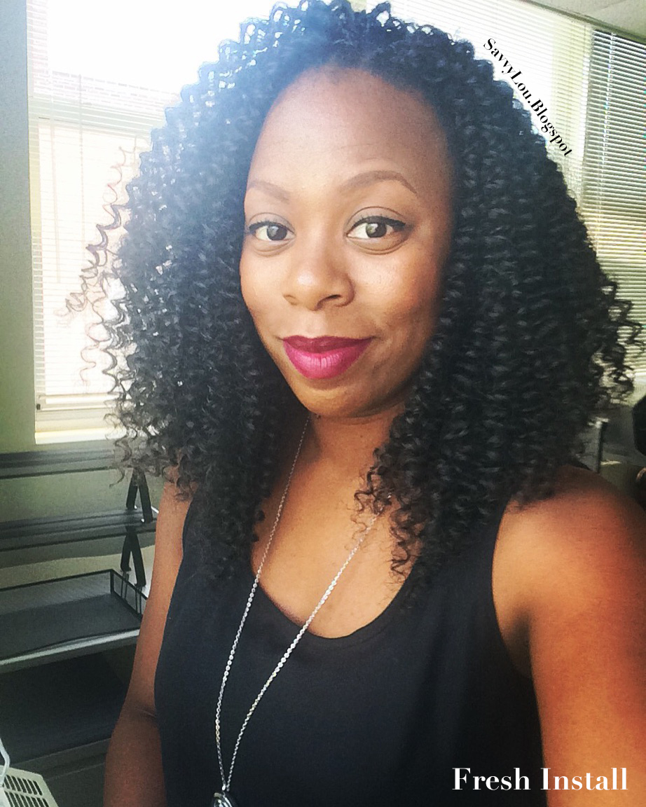 My Favorite Protective Style Freetress Water Wave Crochet Braids