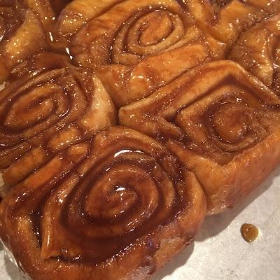 Inverted cinnamon rolls