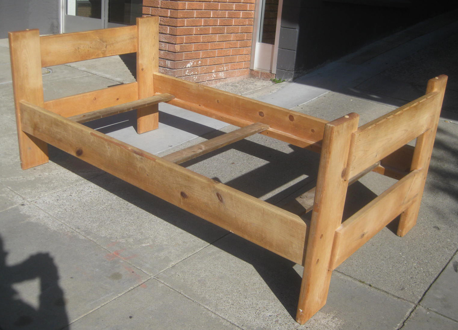 UHURU FURNITURE & COLLECTIBLES: SOLD - Pine Twin Bed Frame ...