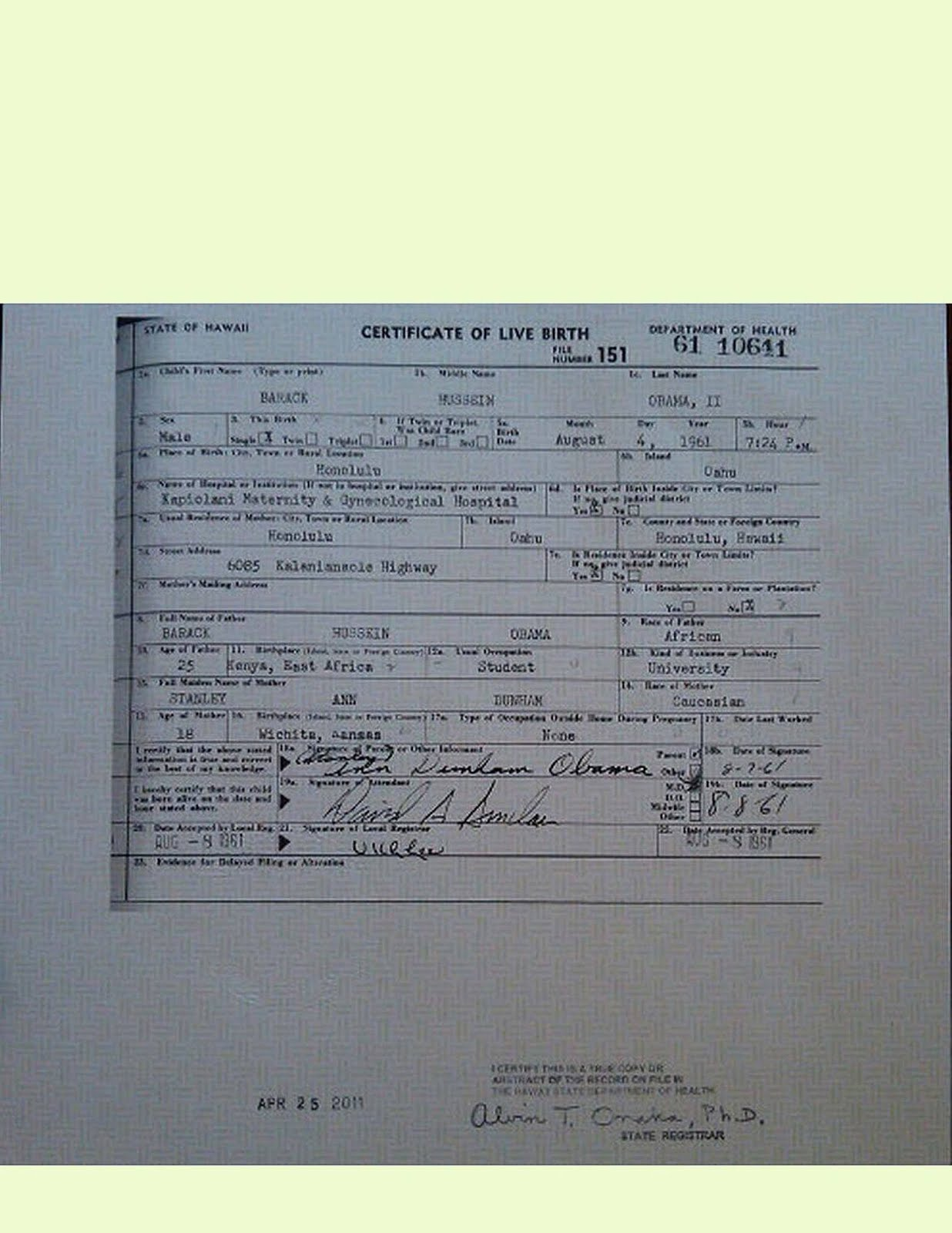 New problems surface on obamas fake birth certificate alternative aiddatafo Gallery