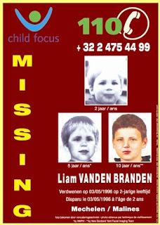 Cartel de búsqueda de Liam Vanden Branden