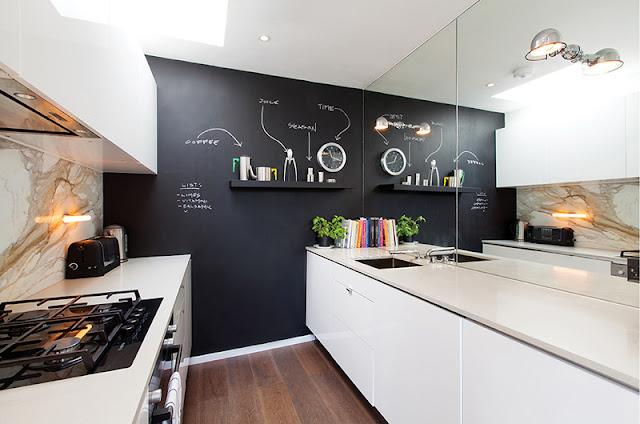 Espelho na cozinha. Blog Achados de Decoração