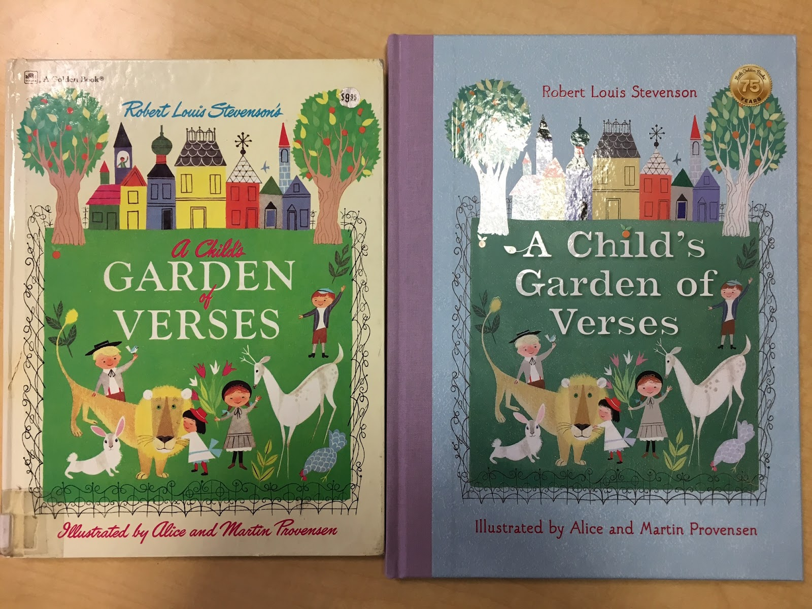 that book is back out this year from golden press heres a photo a heartfelt thanks to allie jane bruce for sending me these images of the old and new - A Childs Garden Of Verses