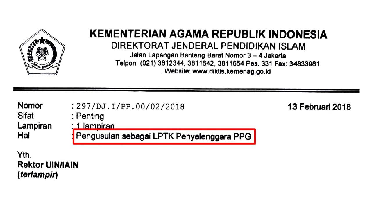 LPTK Penyelenggara PPG Kemenag 2018