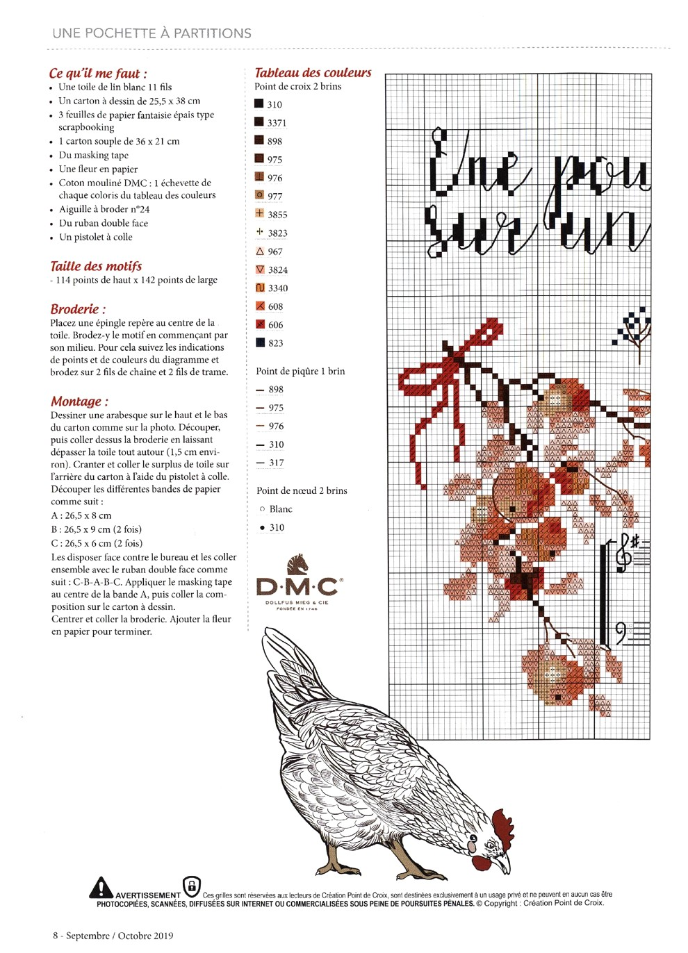 Журнал со схемами вышивки - Creation Point De Croix №78 2019 (8)
