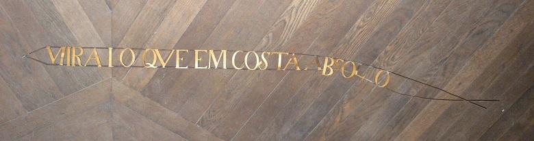 Frase de la escena del milagro de la iglesia de Santa Eulalia