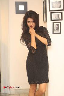 Actress Kimaya Phtoos in Black Short Dress at Kotha Kothaga Unnadi Press Meet 0005