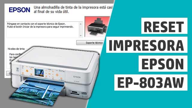 resetear almohadillas impresora Epson EP803AW
