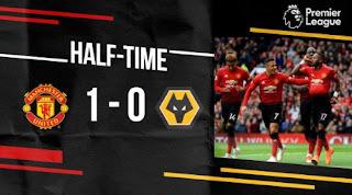 Manchester United vs Wolverhampton 1-0