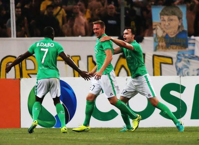Robert Béric a marqué face à l'AEK Athènes