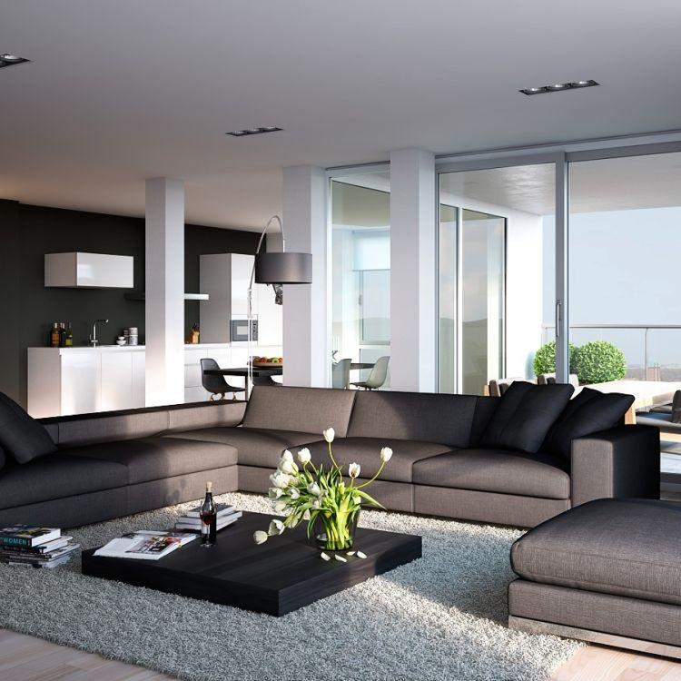 12 salas en color gris salas con estilo for Muebles de sala color gris