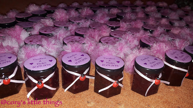 """roses jam wedding favours"""