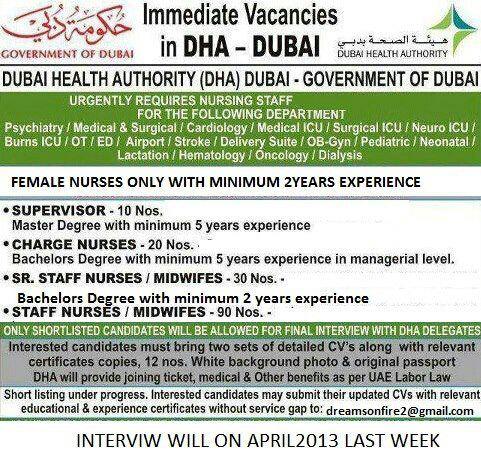 Looking for Registered Nurse Jobs in Dubai  - insiwating ml