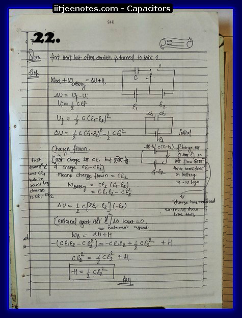 Capacitors notes iitjee7