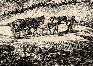 Two-horse cart