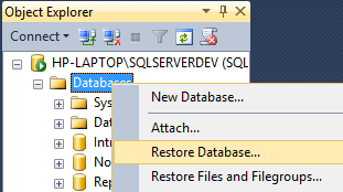SQL Server Manager Studio