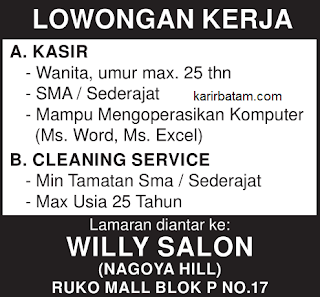 Lowongan Kerja Willy Salon