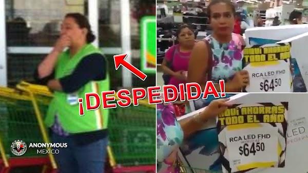 """Por """"incompetente"""" Bodega Aurrera despide a empleada que cometió error en el precio de TV's y amenaza con demandarla."""