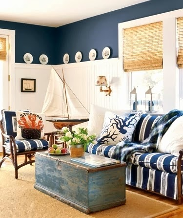 nautical cottage living room decor ideas