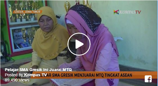 MASYA ALLAH... Anak Pedagang Tabung Gas Asal Gresik Juara I Musabaqah Tilawatil Qur'an (MTQ) Tingkat ASEAN