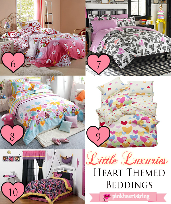 Heart Themed Beddings