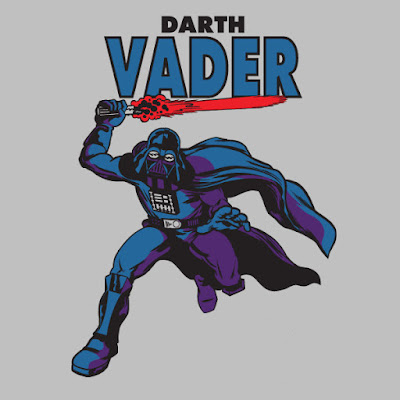 "Star Wars ""Silver Age Vader"" Darth Vader T-Shirt by Super7"