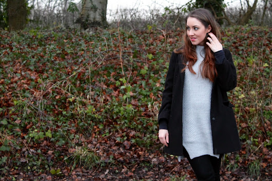 OOTD: Chunky Grey Knits And Black Skinny Jeans