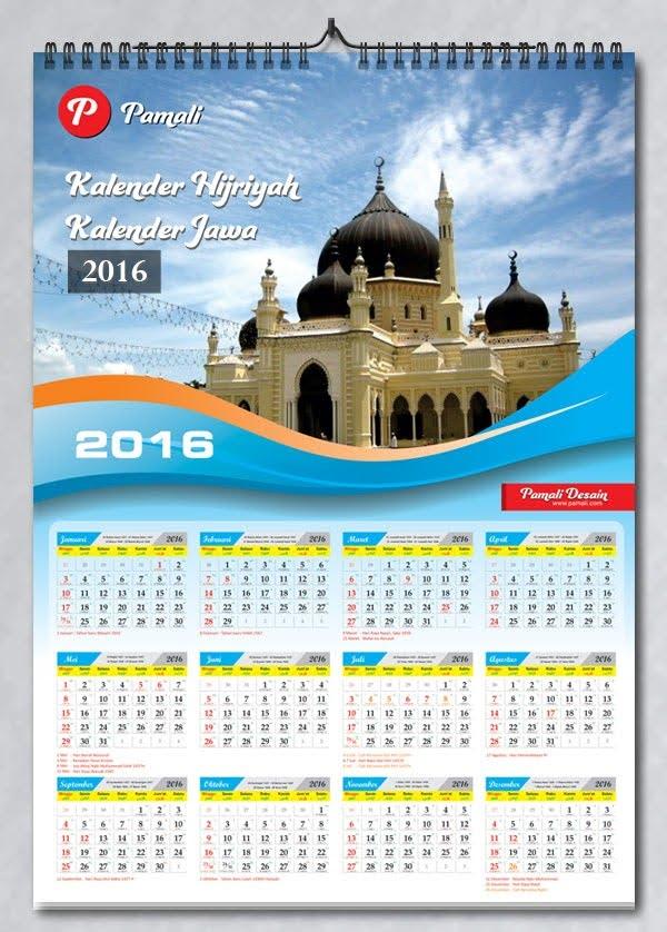 Kalender Tanggalan 2016 lengkap murah
