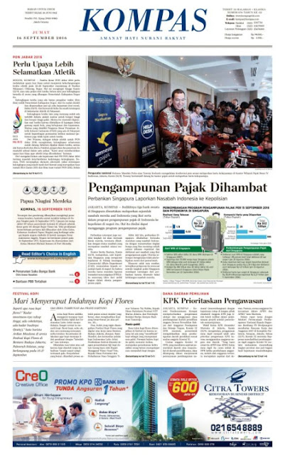 Kompas Edisi Jumat 16 September 2016