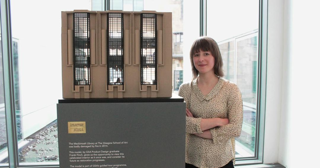 The Glasgow School Of Art Media Centre Model Library The Glasgow School Of Art Unveils Specially Commissioned Scale Model Of The Mackintosh Library