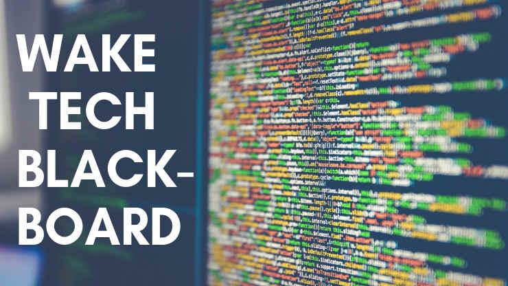 Wake Tech Blackboard