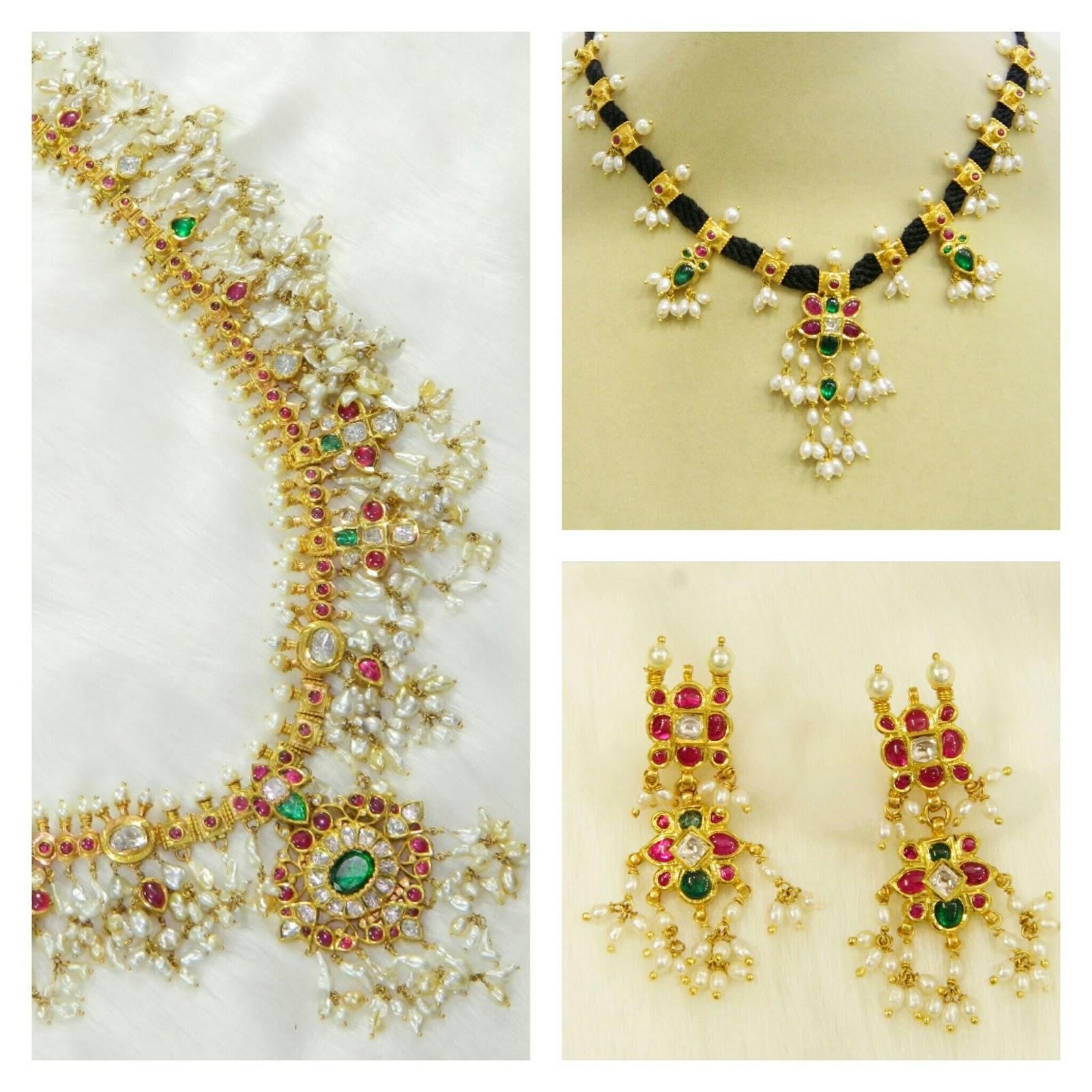 Guttapusalu Set By Kothari Jewelry Jewellery Designs