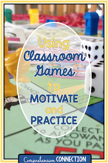 This post includes parental involvement activities with reference to a post about using games in the classroom to support reading instruction.