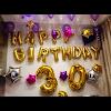 Kombinasi Balon Foil Huruf & Balon Foil Angka Warna Gold