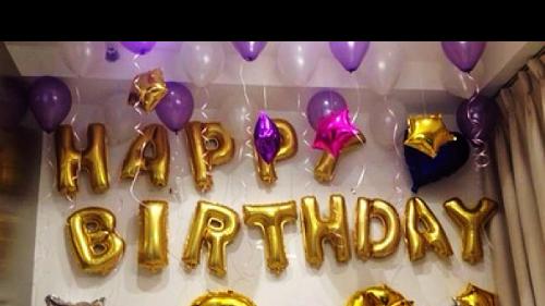 Kombinasi Balon Foil Huruf Balon Foil Angka Warna Gold