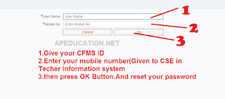 How to reset my password in CFMS website login