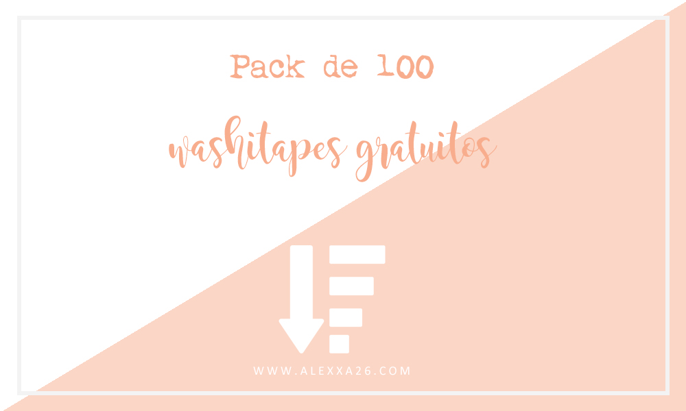 Pack de 100 washi tapes gratuitos de formas variadas