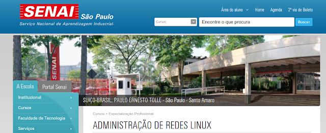 Senai com curso de Linux