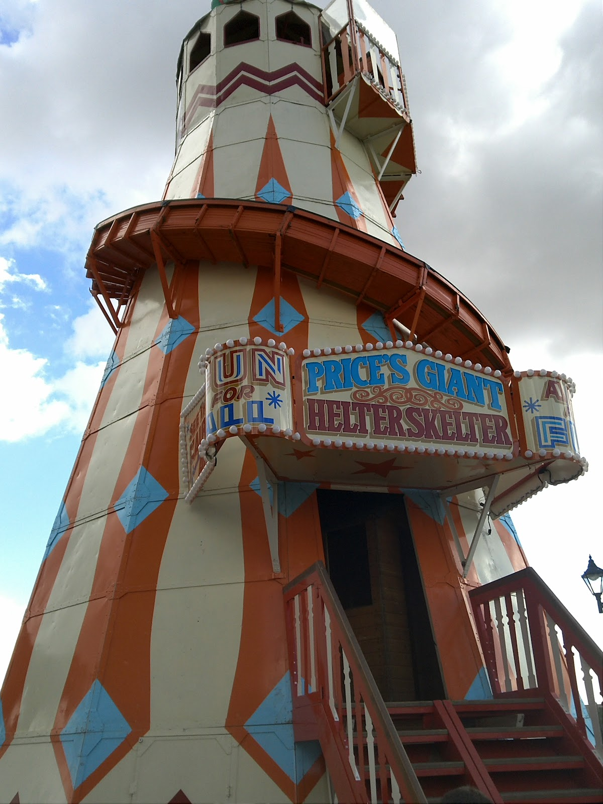 The Helter Skelter at Cardiff Bay Fair